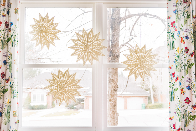 Oversized Paper Christmas Stars