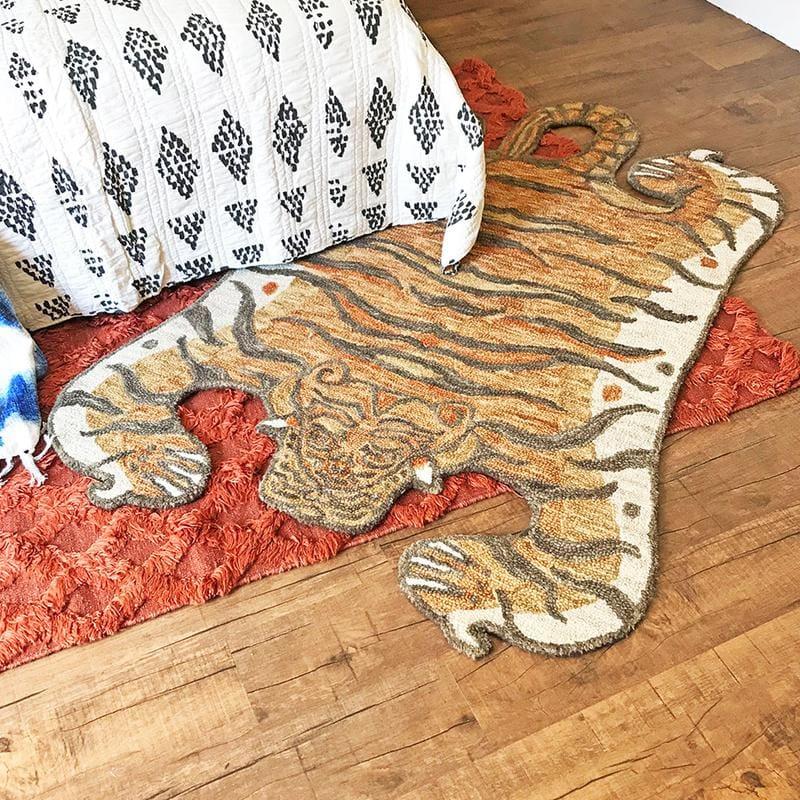 A tiger rug by Justina Blakeney