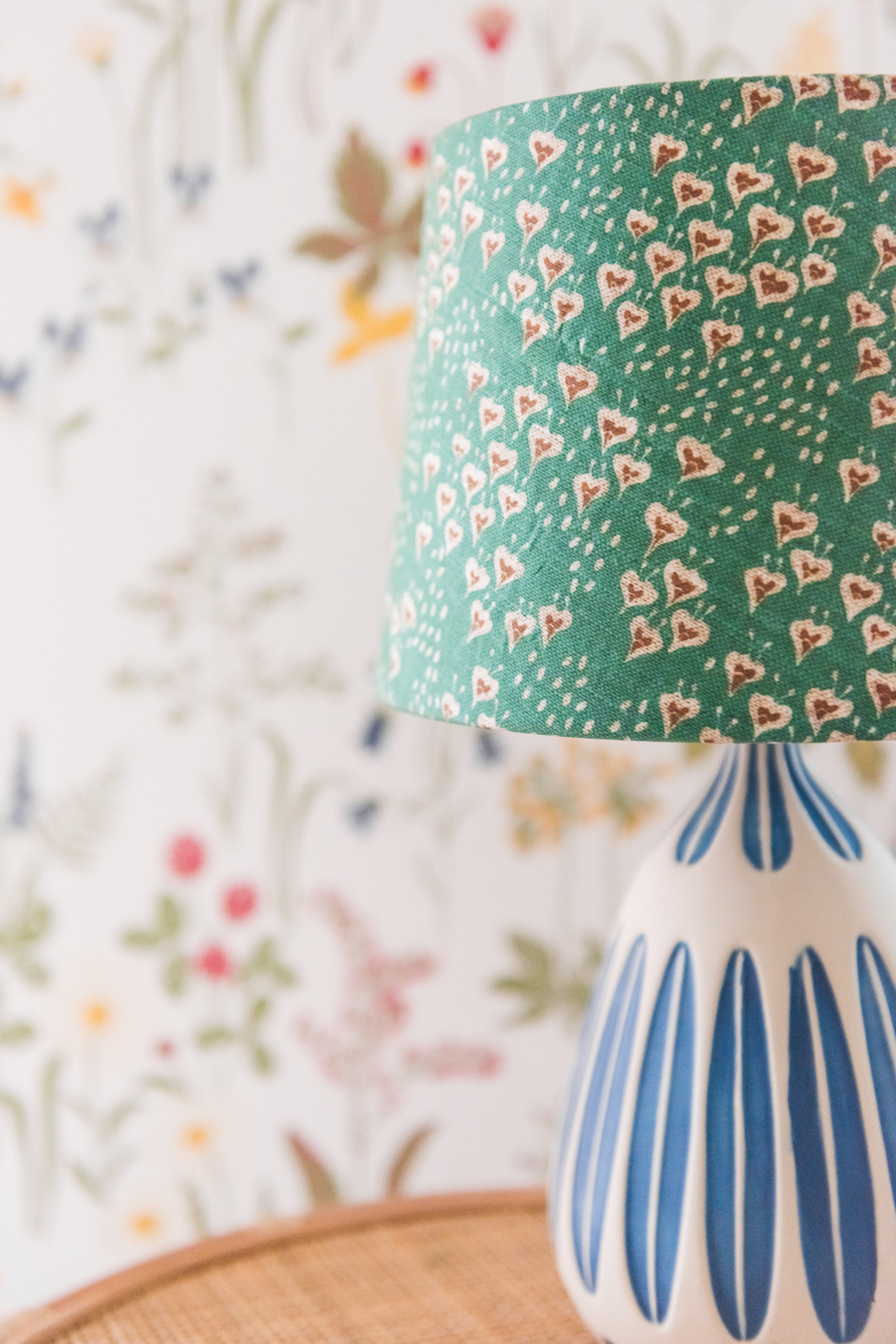 DIY lampshade with Spoonflower fabric