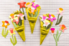 Daffodil napkin bouquet name tag