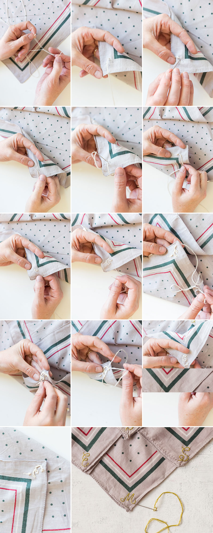 How to backstitch a monogram
