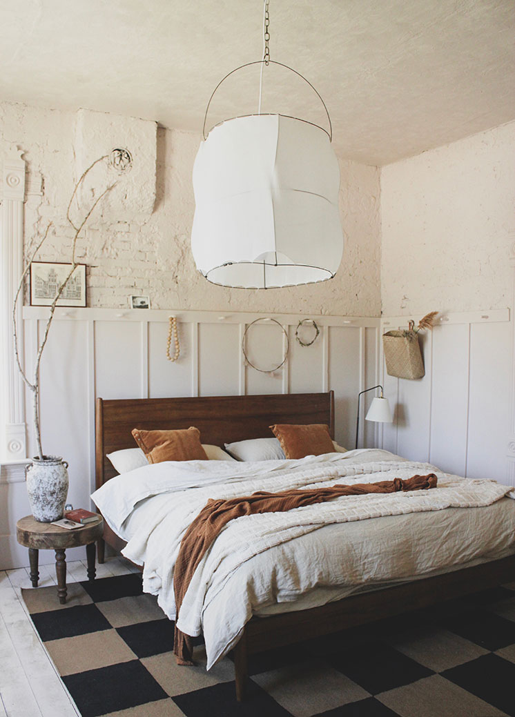 Before and After: Blush pink master bedroom - The House That ...