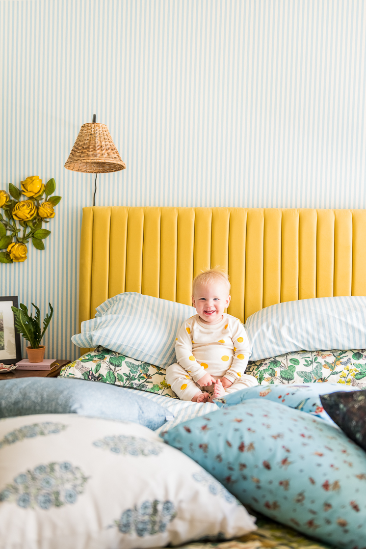Brittany's Master Bedroom Makeover with Spoonflower