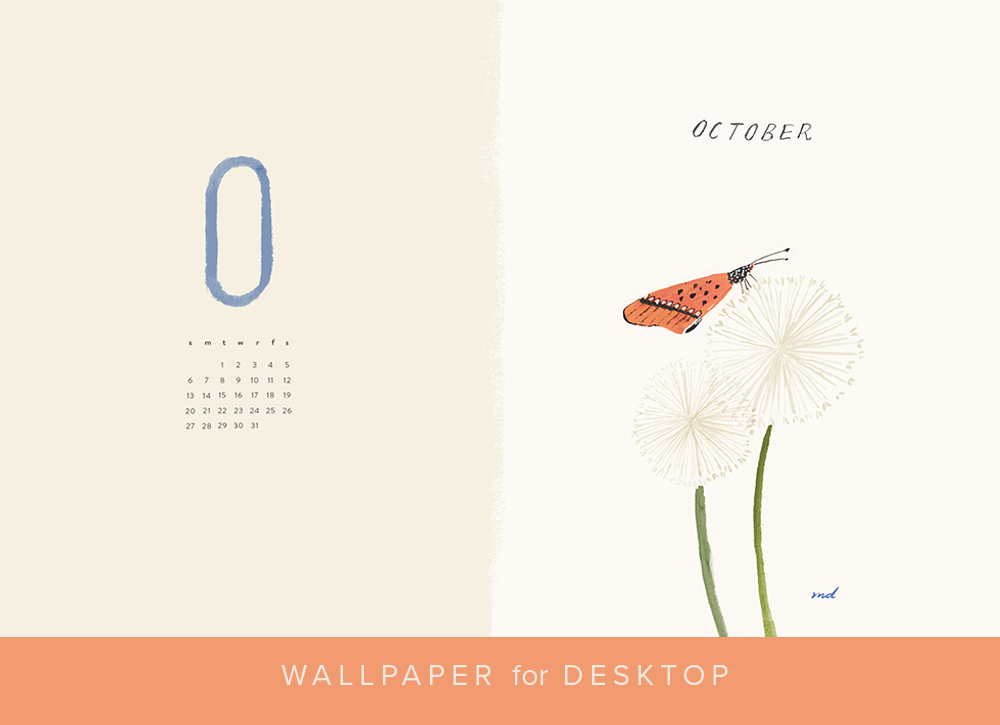 October 2019 desktop calendar background
