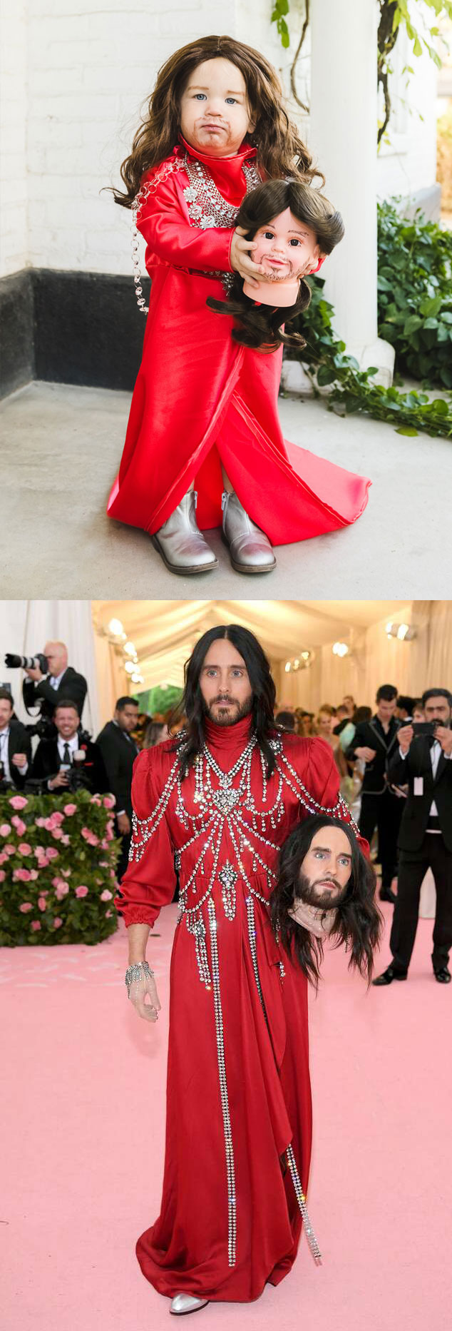 Jared Leto Met Gala head baby Halloween costume