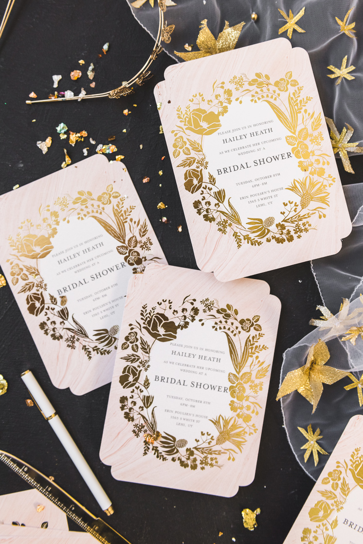 Floral Wedding invitations with Mixbook