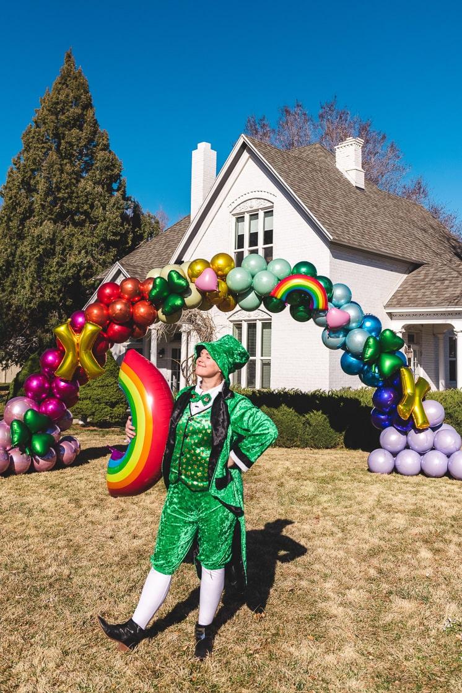 DIY Rainbow Lucky Charms Balloon Arch