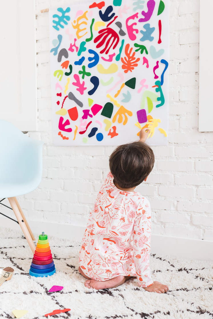 DIY matisse felt board for kids