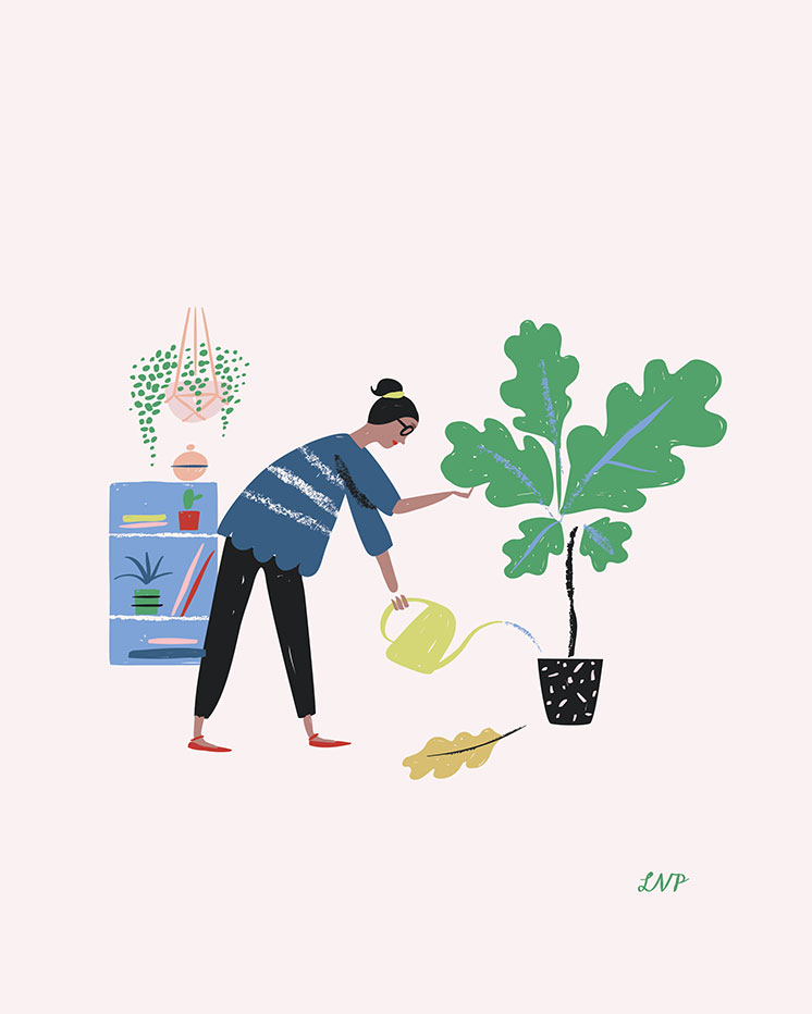Plant Lady art print by Libby VanderPloeg