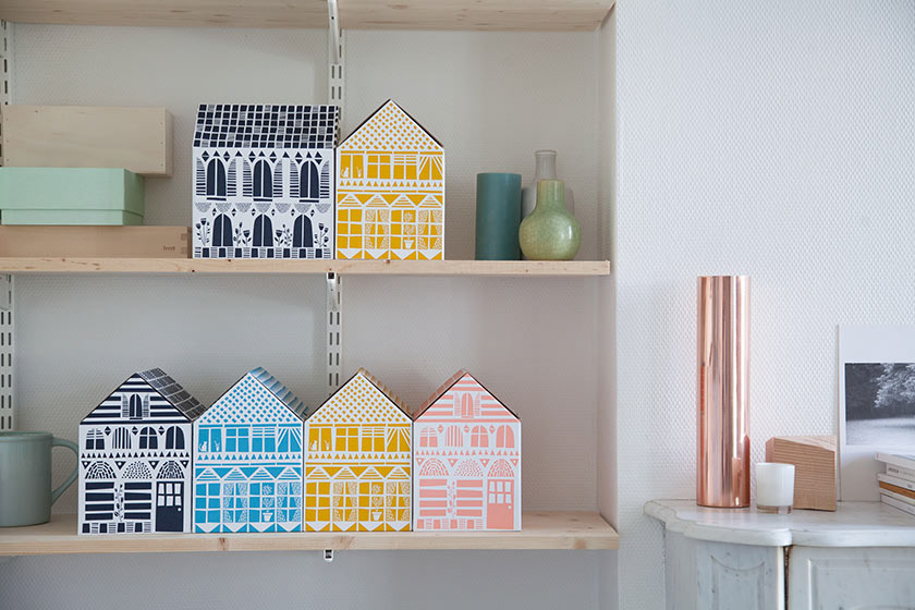 Colorful home boxes by Famille Summerbelle
