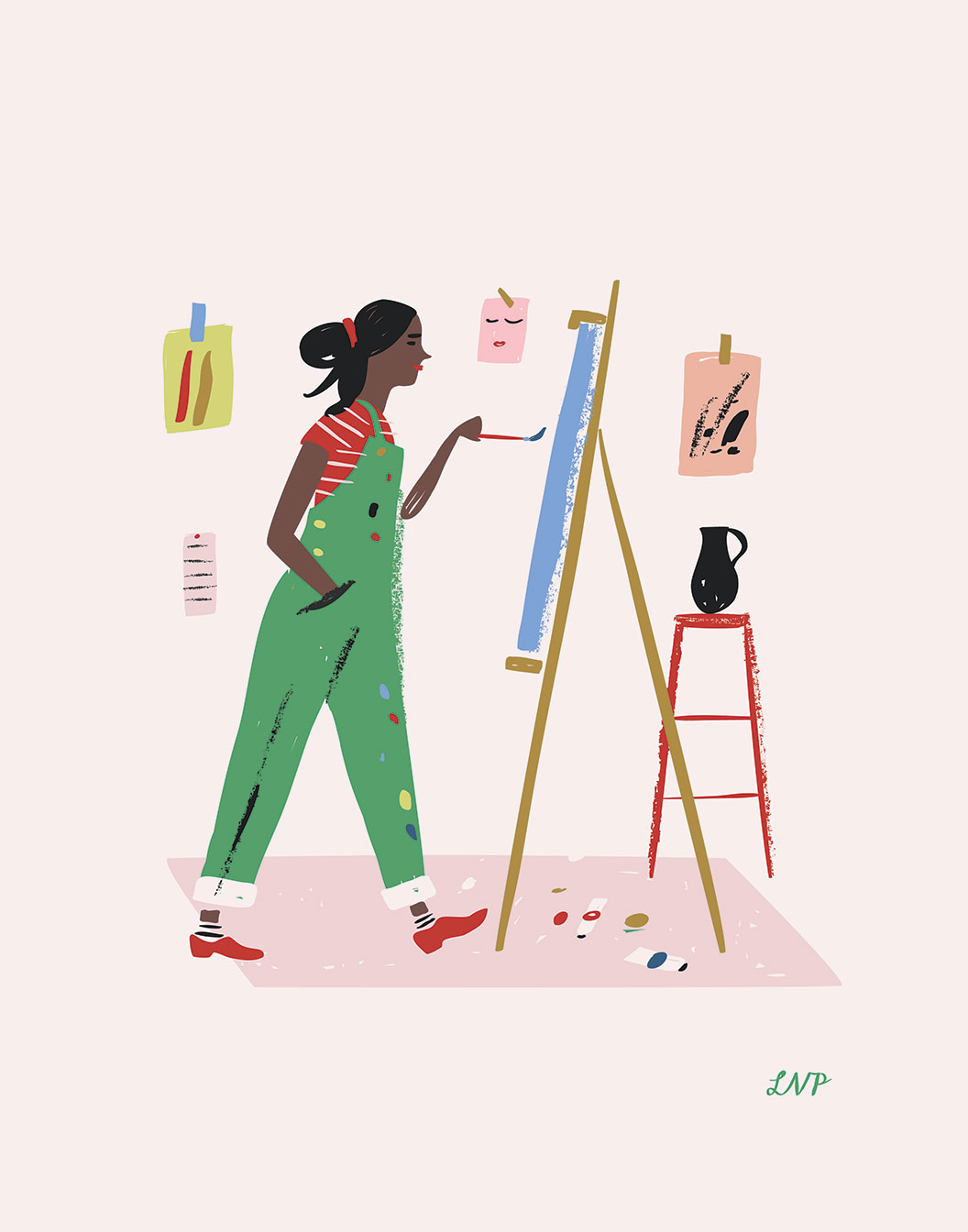 Artist art print Women Who Work
