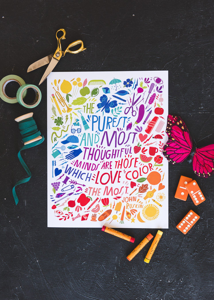 art print about color by lisa congdon