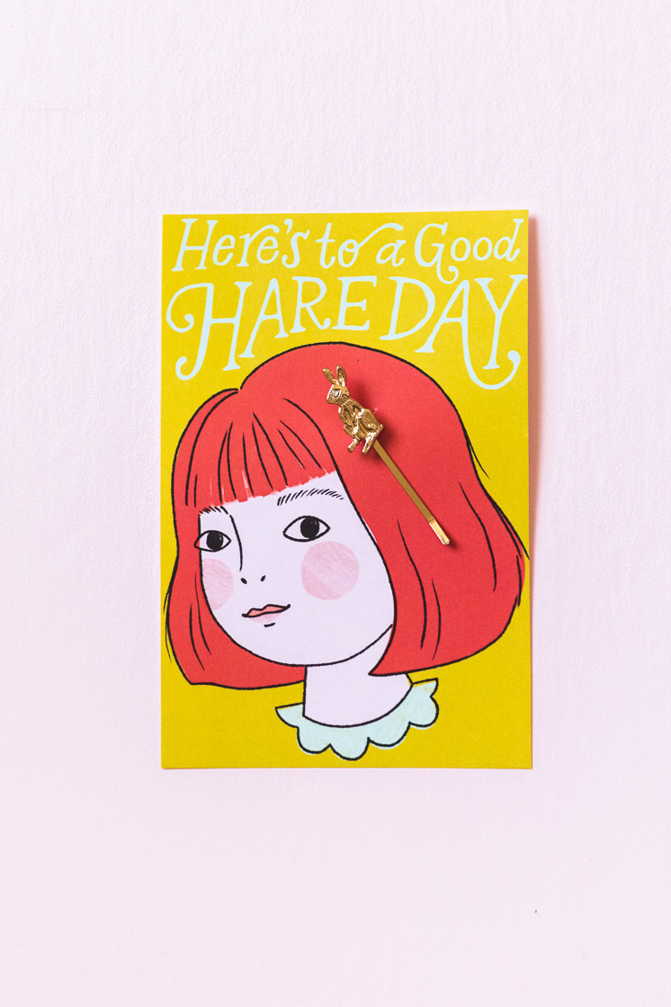 have a good hare day card and clip