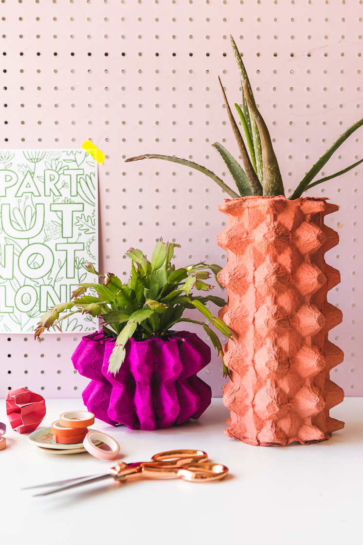 DIY Vases Using Recycled Egg Cartons - The House That Lars Built