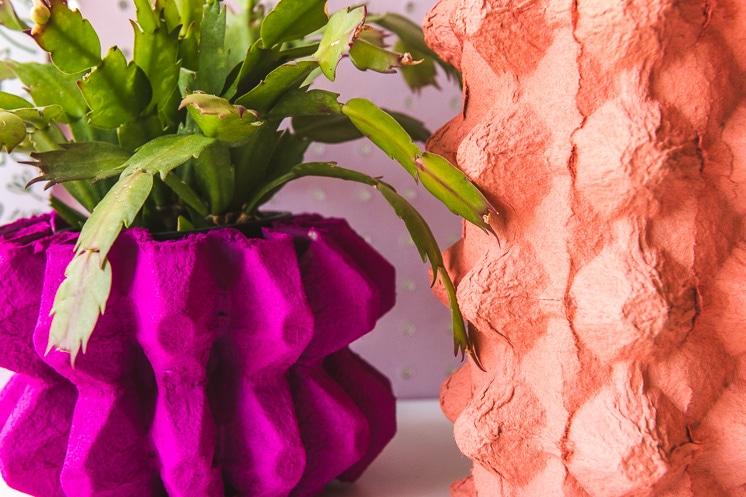 DIY cardboard vase craft