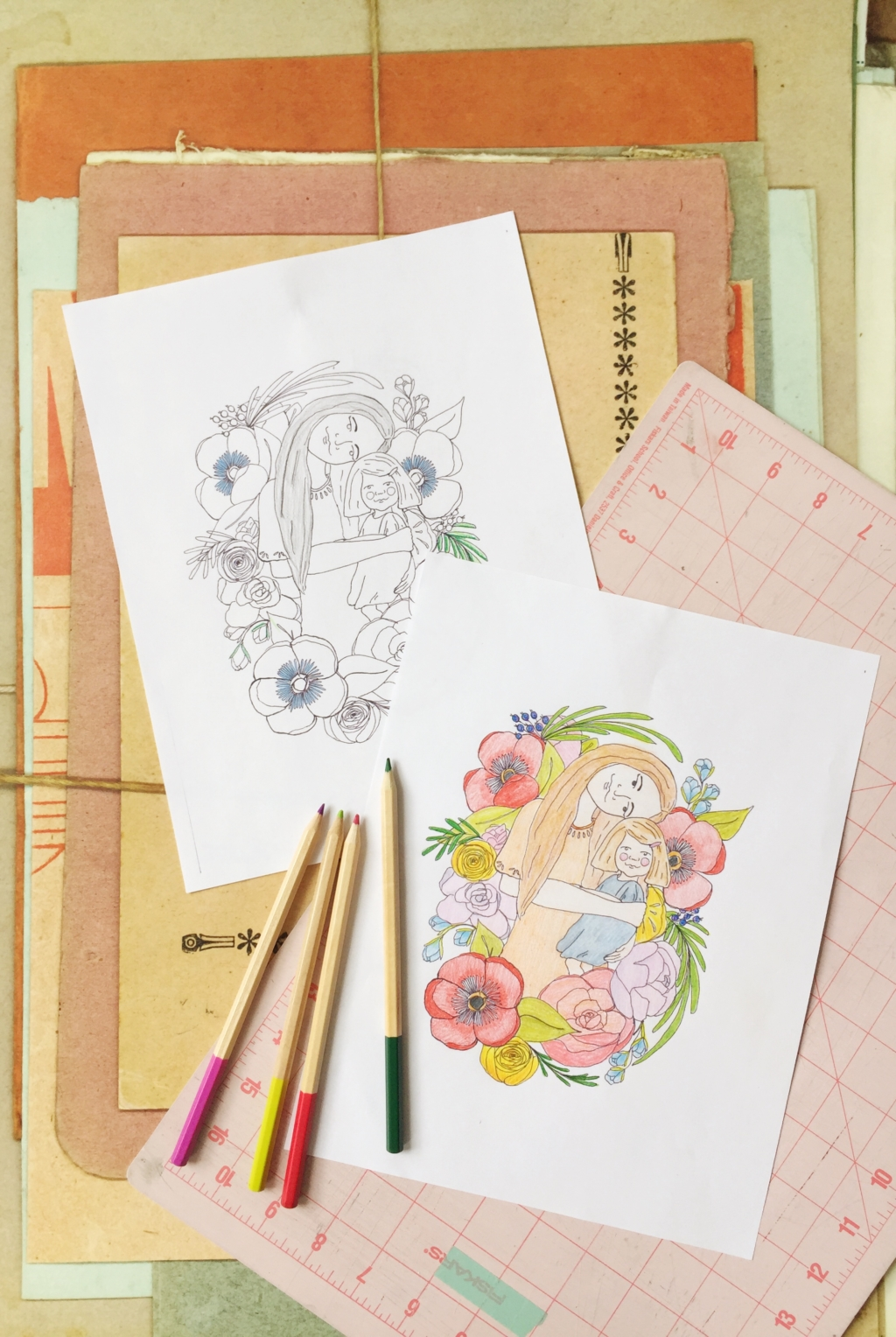 Coloring Page downloads for social distancing at home