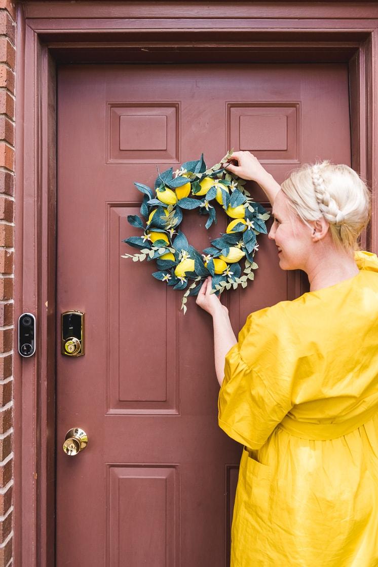 spring wreath lemon wreath kit