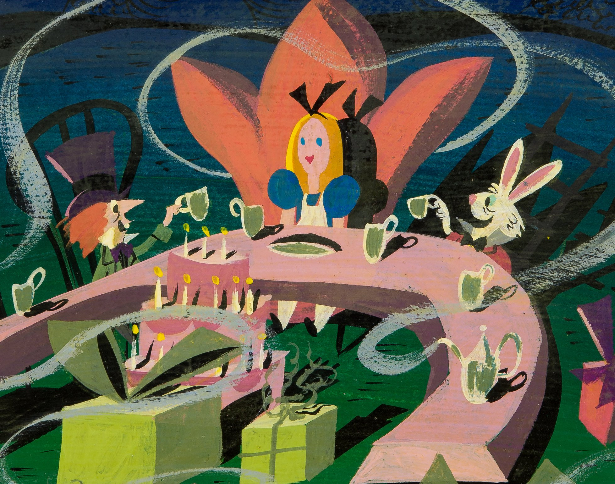 Mary Blair Alice in Wonderland concept art