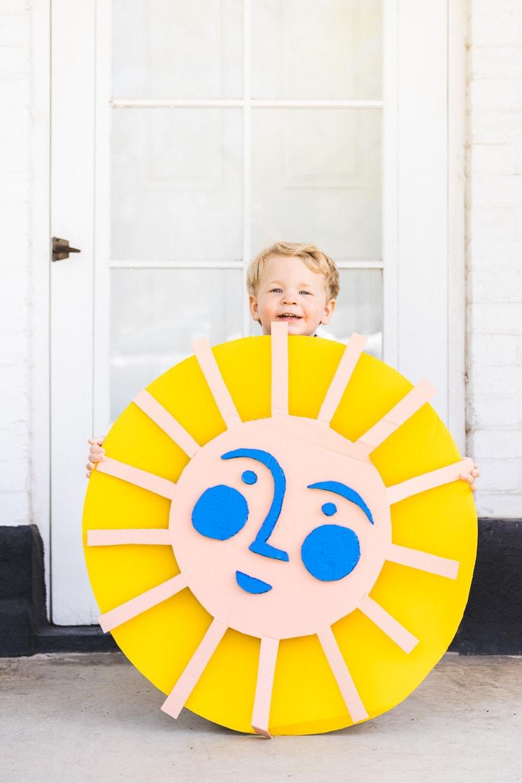 Earth Day: Recycled cardboard sun