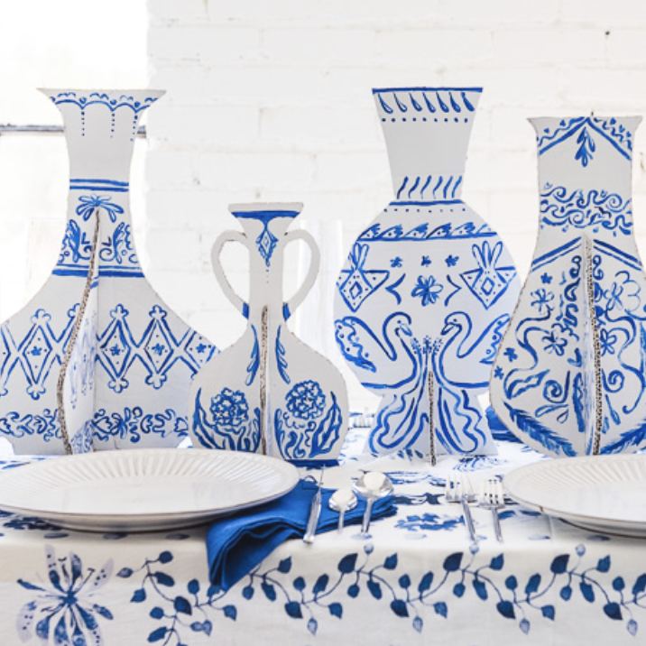 DIY cardboard china vases