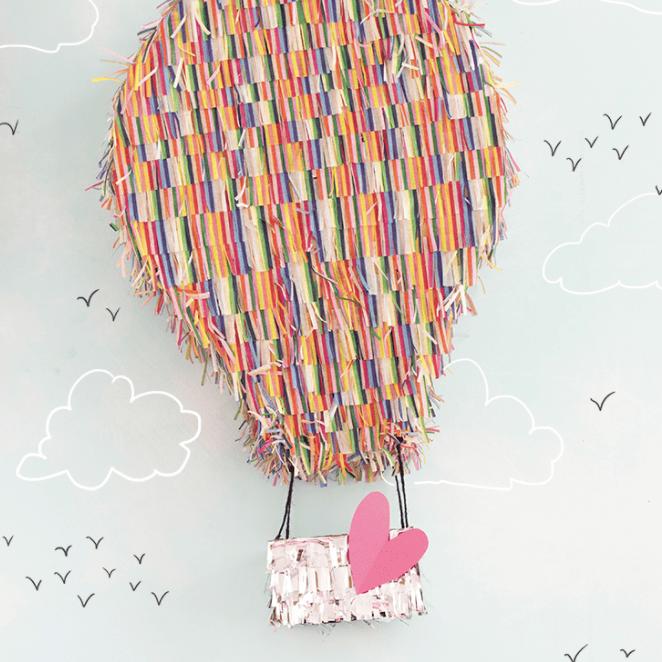 DIY hot air balloon pinata