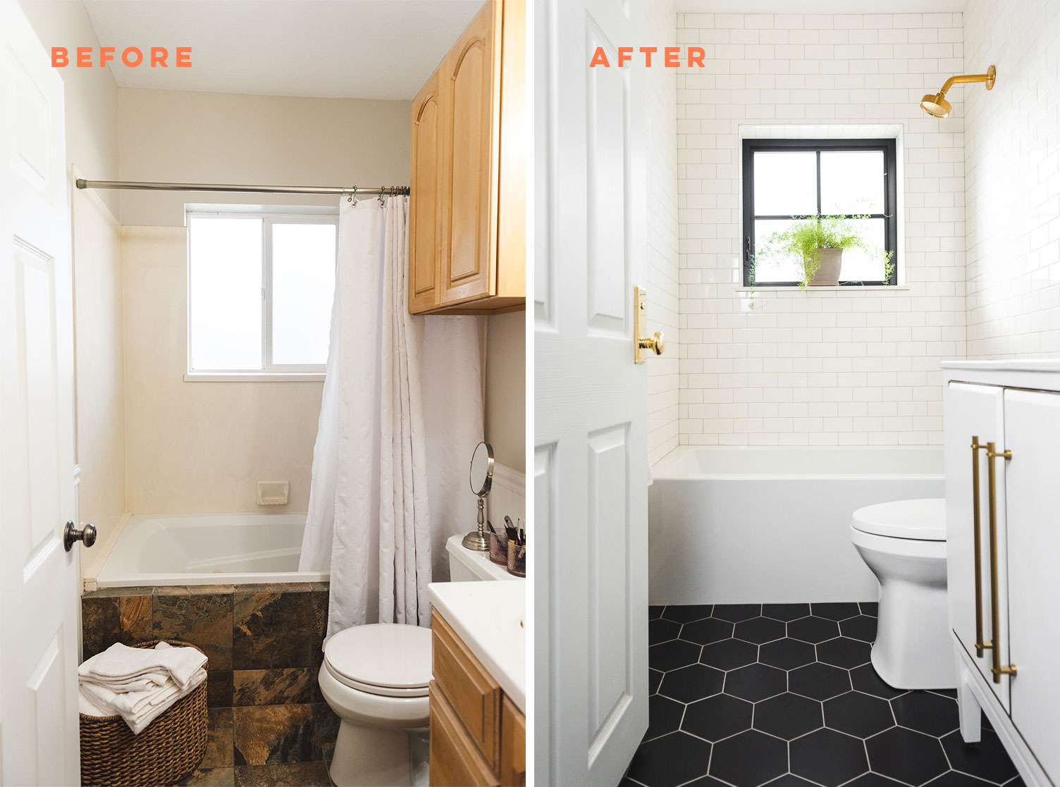 Before And After Bathroom Renovation The House That Lars Built