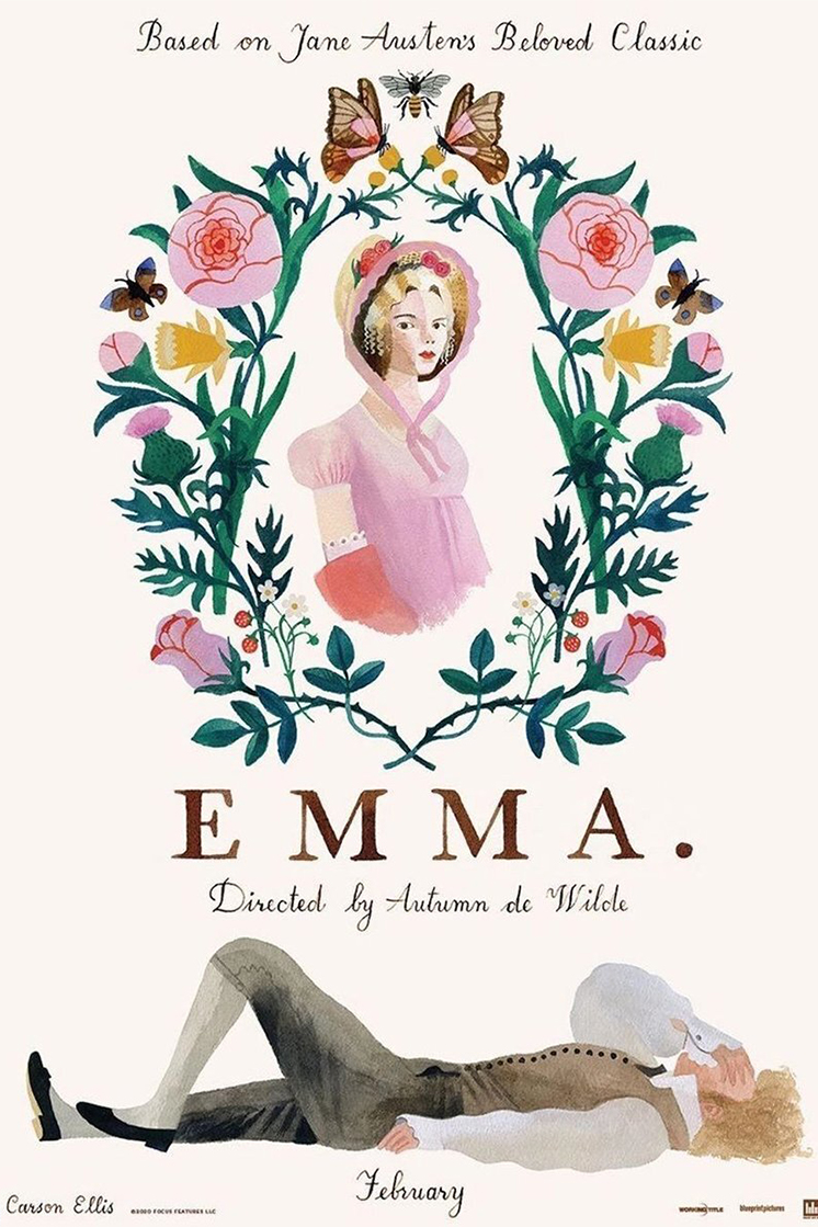 Illustration from the new Emma movie inspired by Jane Austen