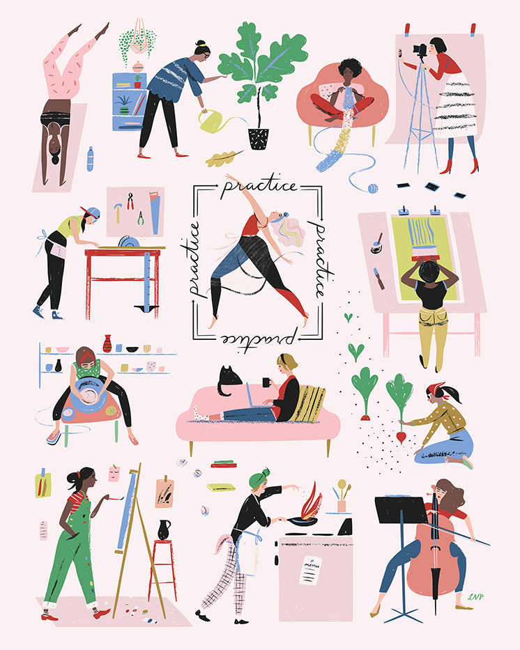Women who Work art print by Libby Vanderploeg
