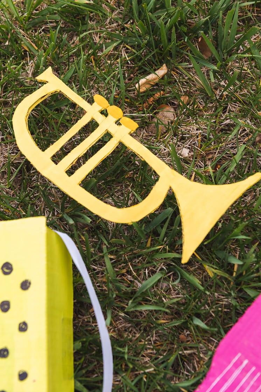 DIY cardboard instruments mariachi