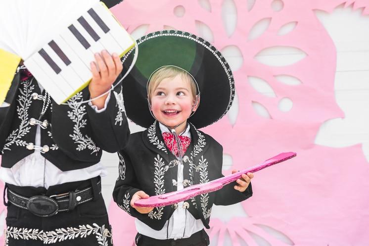 cardboard mariachi instruments
