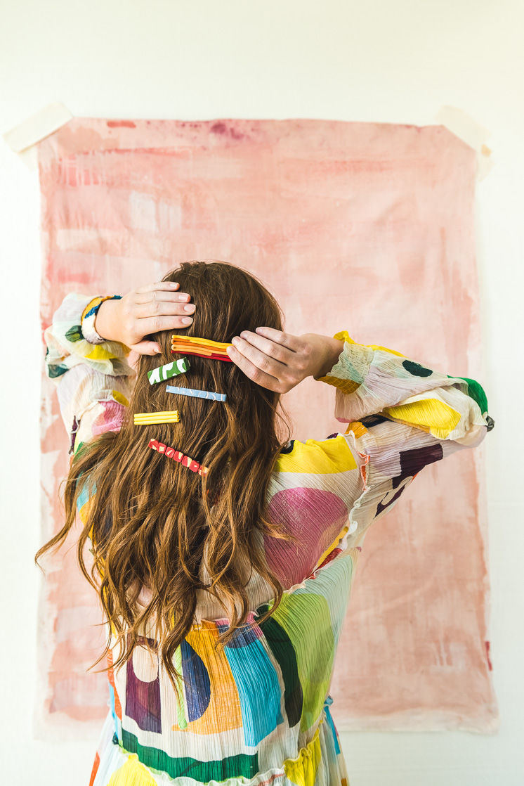 Crafts with anxiety-relieving textures DIY clay hair clips