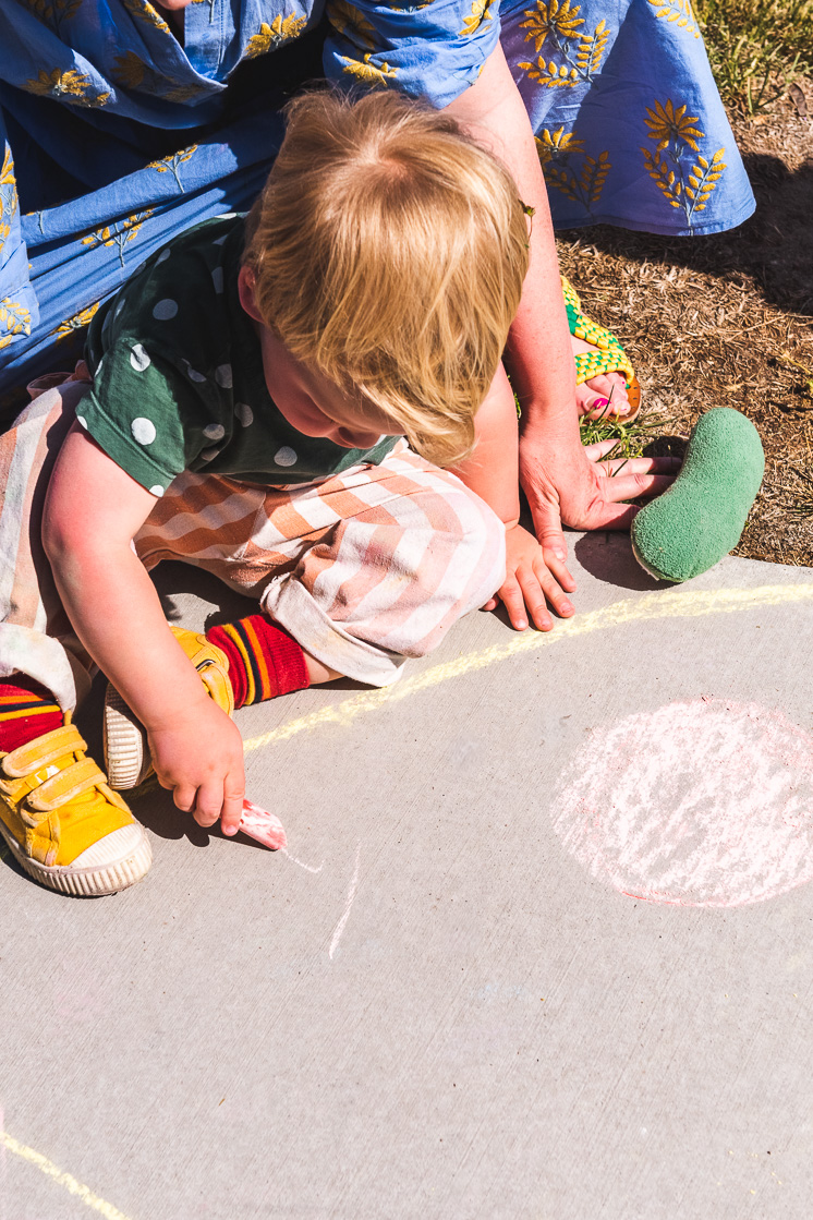 add toppings to your pizza with sidewalk chalk