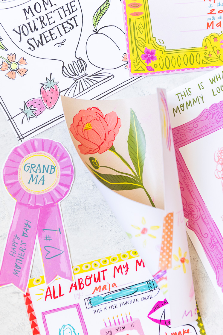 Mother's day activity pack for Mother's Day gifts the kids can help with