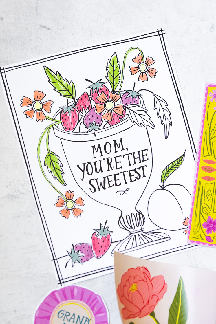 Mother's day activity pack coloring pages for Mother's Day gifts the kids can help with