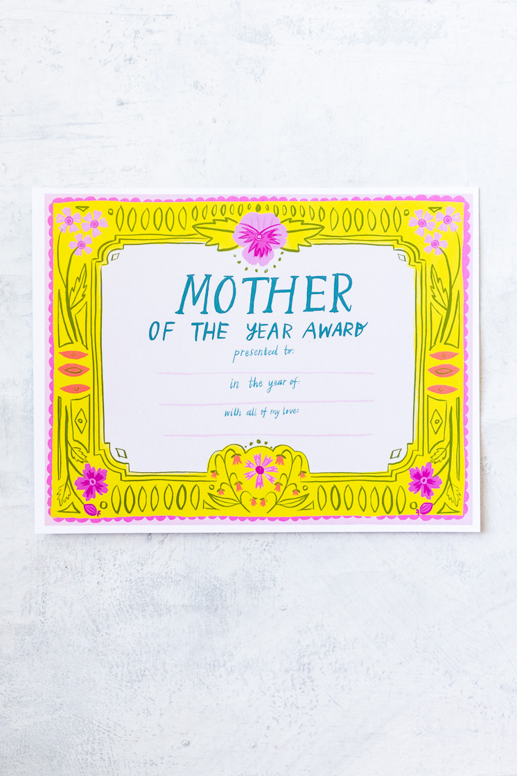 Mother's day activity pack for Mother's Day gifts the kids can help with Mother of the year award