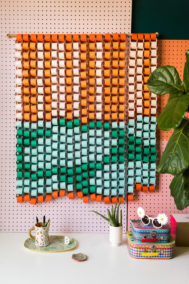 Crafts involving repetition to relieve anxiety paper chain mural