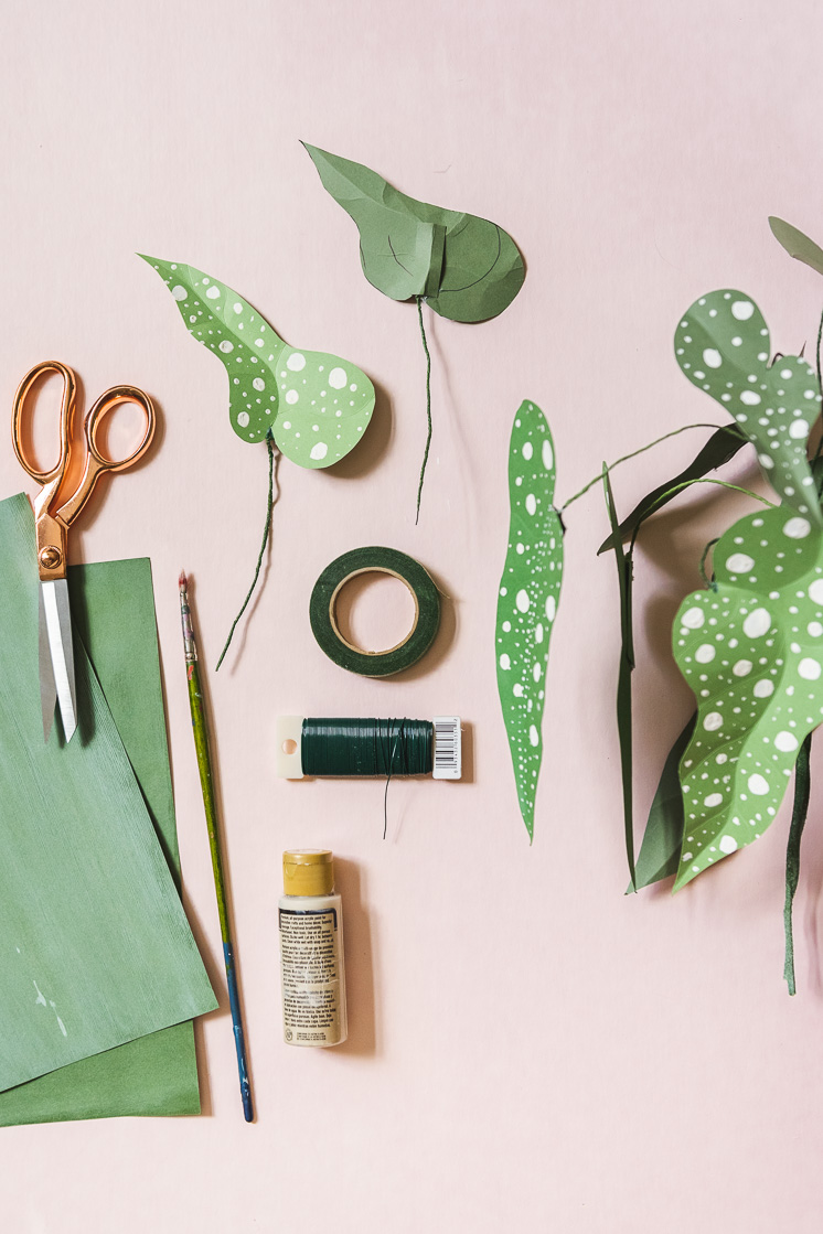 DIY paper easy houseplant