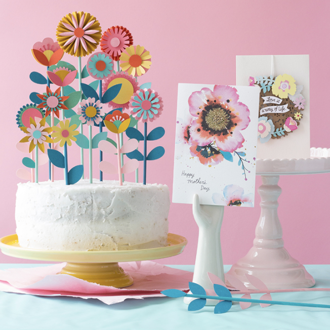 mother's day flower cake toppers printable
