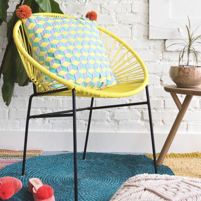 DIY weaving bias tape pillow Creative hobbies to try when you are feeling uninspired