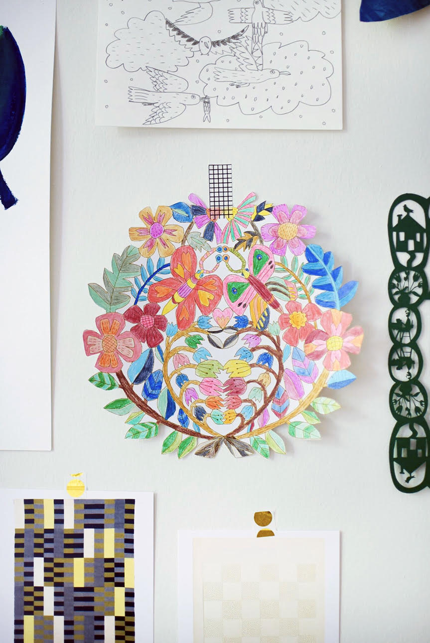 How to display coloring pages gallery wall
