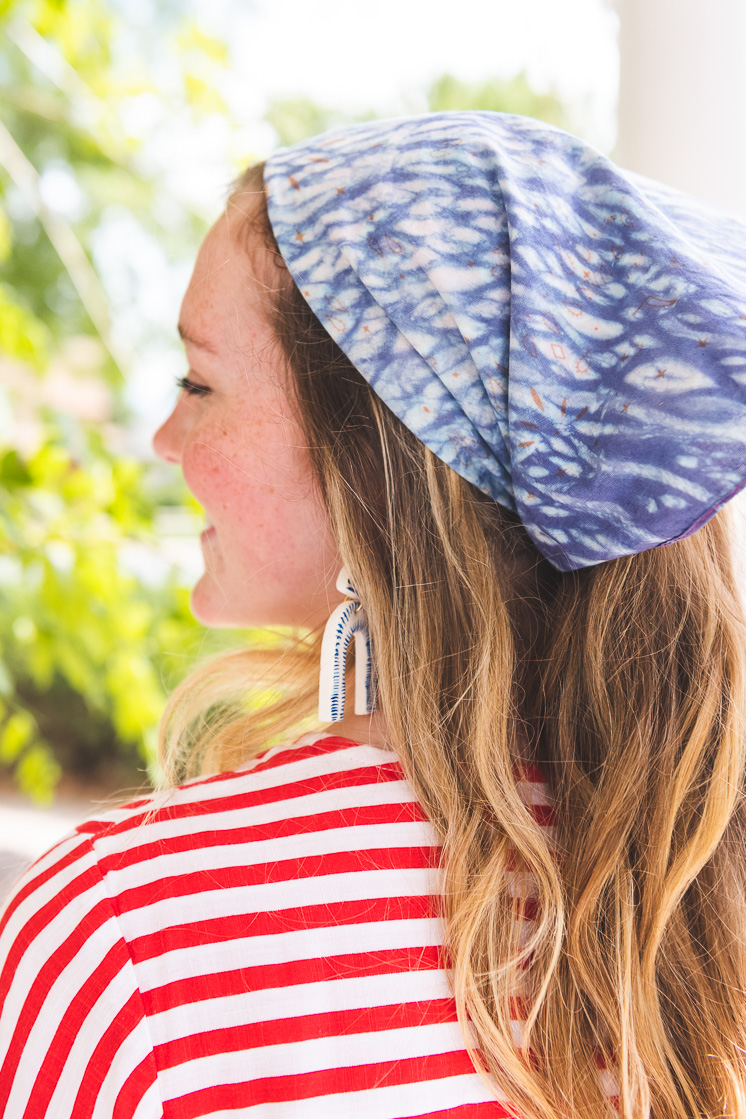 10 ways to wear your tie dye bandana