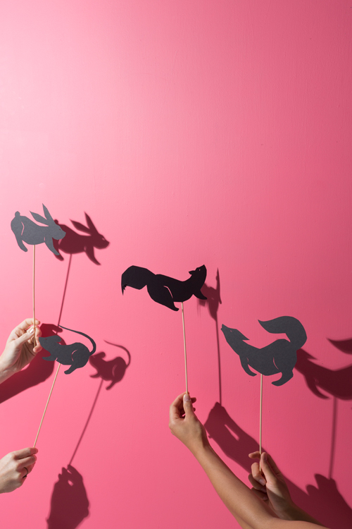 Glamping DIY - printable shadow puppets