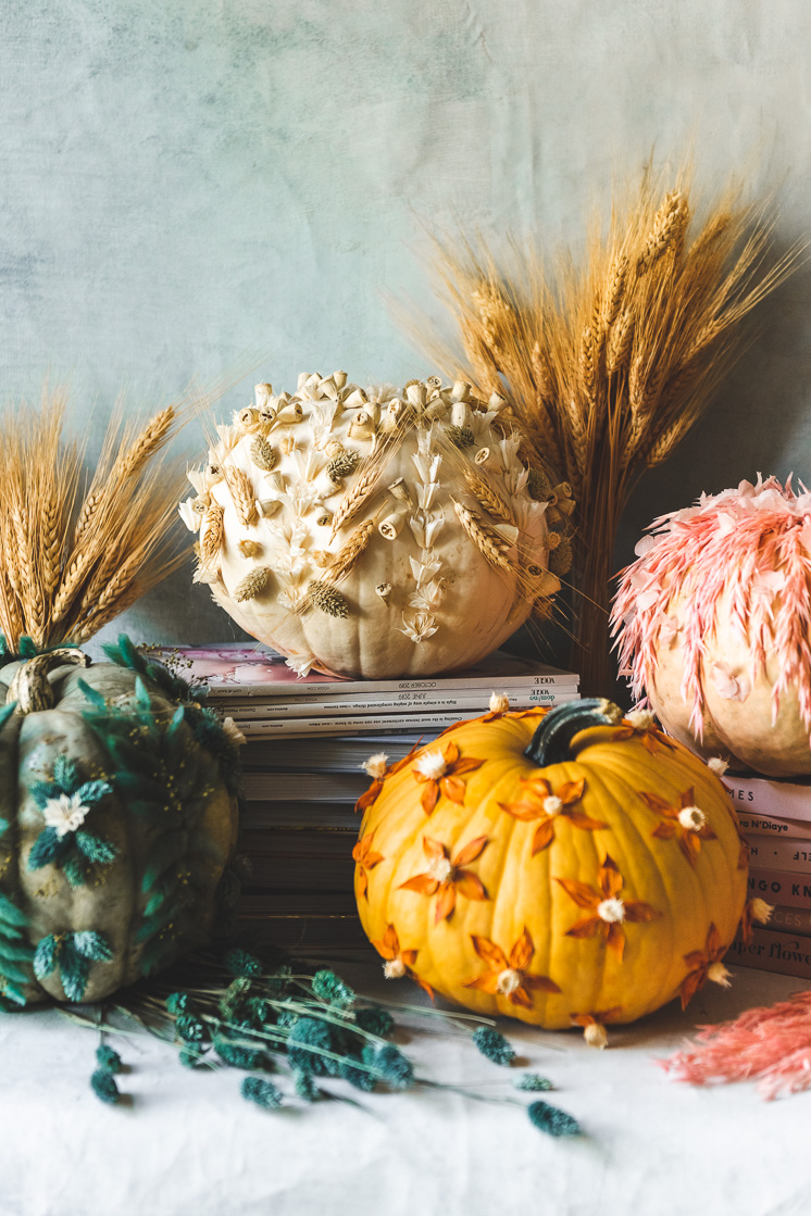 DIY Dried Flower Pumpkins