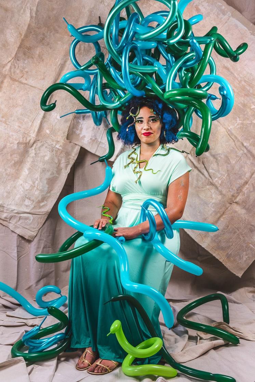 DIY Balloon Medusa Costume