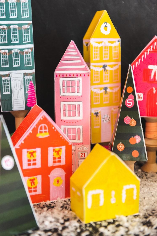 DIY Printable Advent Village Calendar