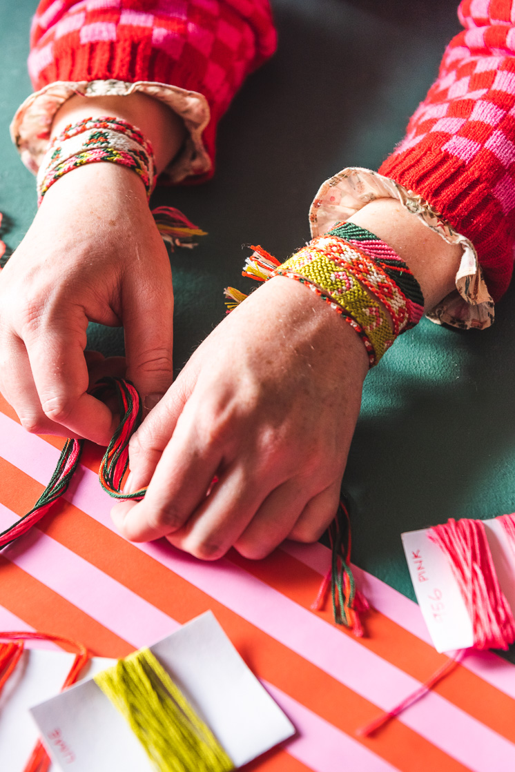 DIY Holiday Friendship Bracelets