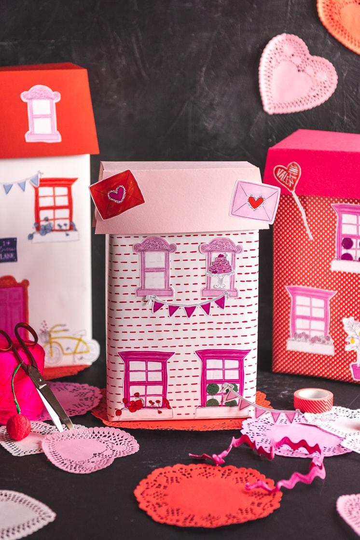 DIY House Valentine Box stickers