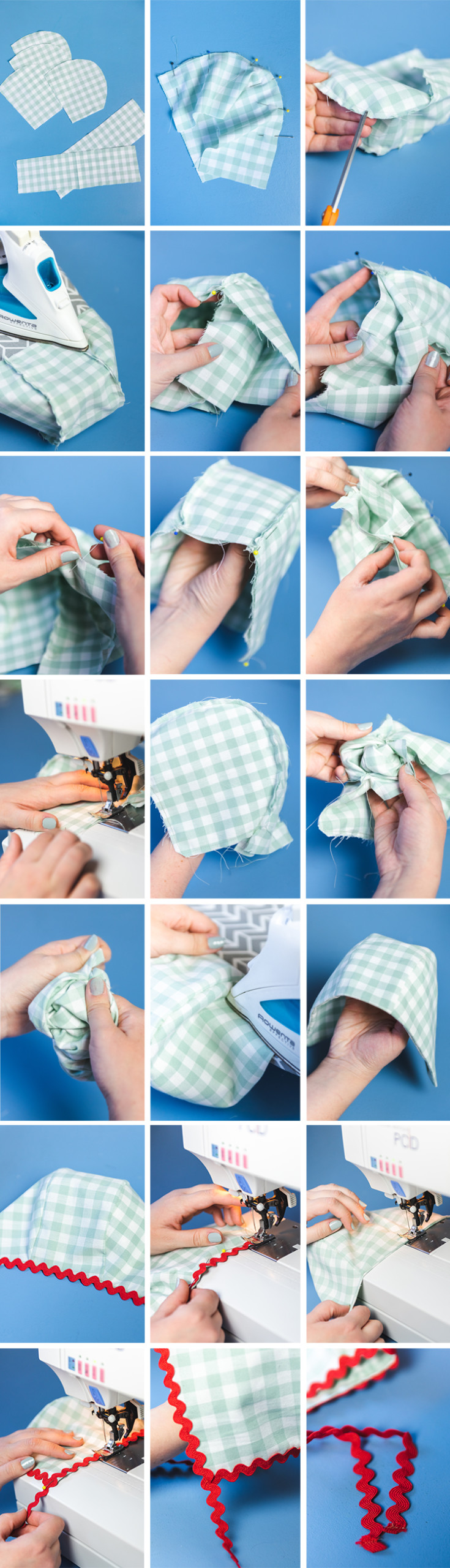 step by step photos of bonnet construction