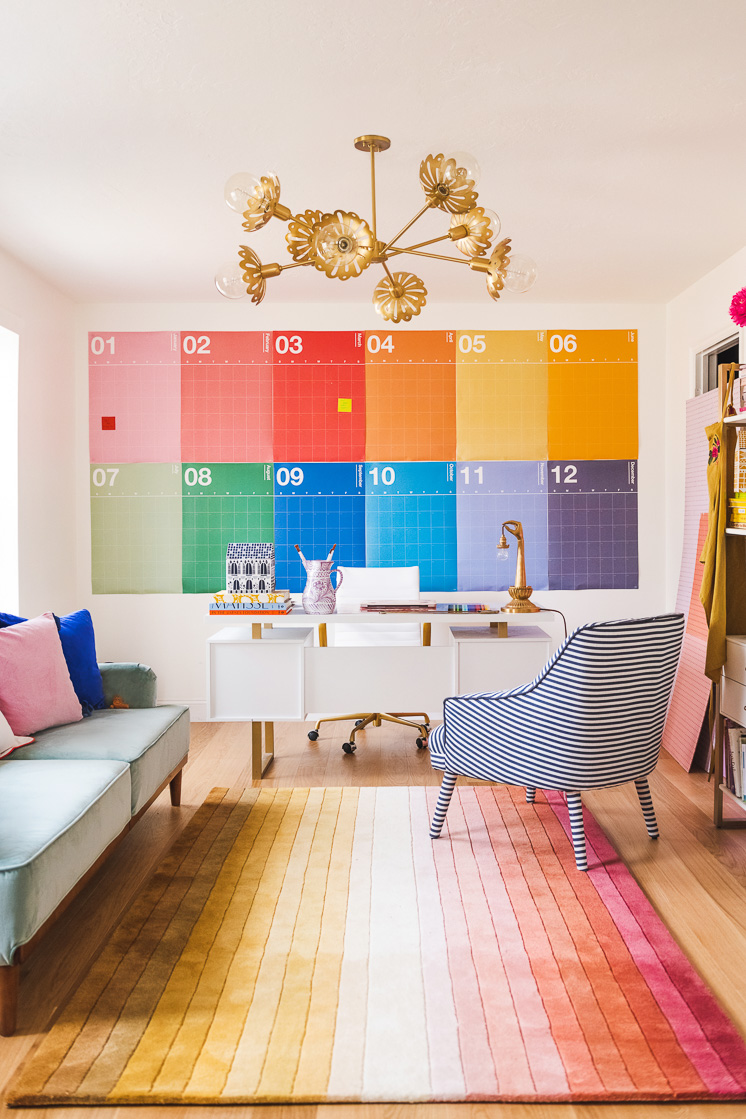 Meet Brittany's new rainbow office