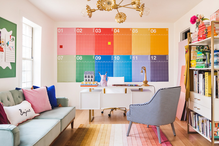 rainbow calendar home office